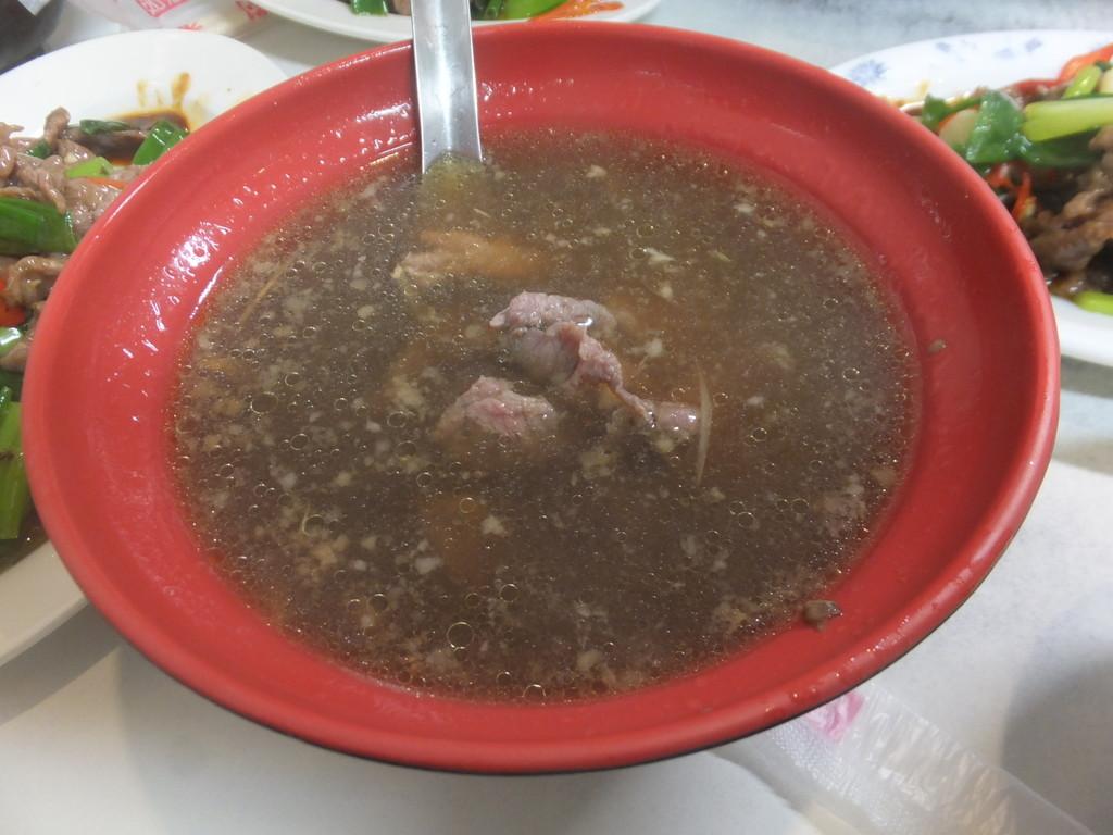 黄家牛肉麺の牛肉と葱の炒め